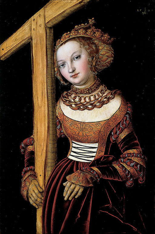 Saint Helena with the Cross by Lucas Cranach the Elder