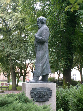 Chełmno - Statue of Ludwik Rydygier in Chełmno, the first surgeon in the world to carry out a peptic ulcer resection.