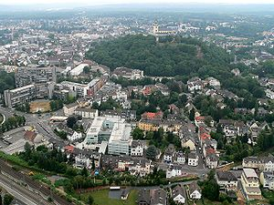 Aerial photograph of Siegburg