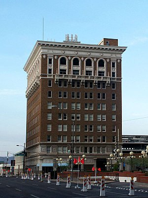 Maricopa County Courthouse - Trost and Trost, architect of the Luhrs Building (pictured), competed for the county courthouse contract