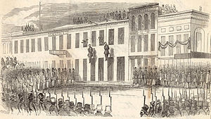 San Francisco Committee of Vigilance - Charles Cora and James Casey are hanged by the Committee of Vigilance, San Francisco, 1856.