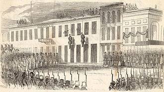 History of San Francisco - Charles Cora and James Casey are lynched by the Committee of Vigilance, 1856.