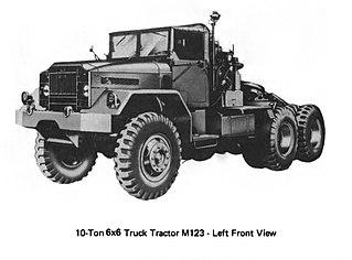 M123 and M125 10-ton 6x6 trucks Type of 10‑ton 6x6 trucks