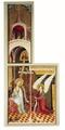 MCC-42339 Middelrijns altaar, annunciatie met afzonderlijk bovenstuk waarop God de Vader en vier engelen (1).tif
