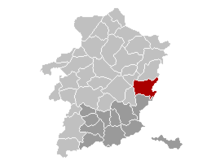 Location of Maasmechelen in Limburgの位置