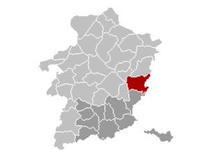 Maasmechelen - Image: Maasmechelen Limburg Belgium Map