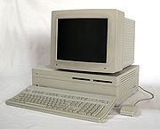 The Macintosh II, one of the first expandable Macintosh models.