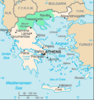 Macedonia's location in Greece