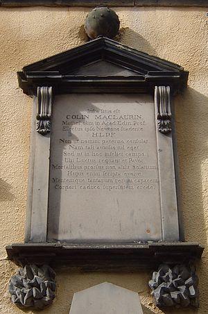 Colin Maclaurin - Memorial, Greyfriars Kirkyard, Edinburgh