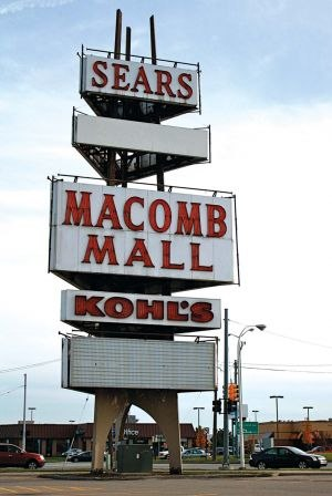 Macomb Mall - Macomb Mall Sign