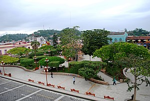 Papantla - Main plaza or park of Papantla