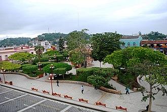 Papantla - Main plaza or park of Papantla