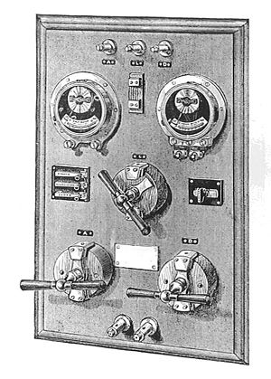 General Electric Company - Early switchboard, c. 1888