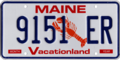 Maine license plate, 1987–1999 series.png