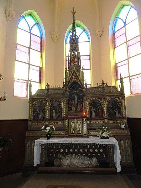 Mairieux (Nord, Fr) église, autel principal
