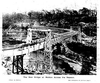 Maldon, New South Wales - Maldon Bridge 1903