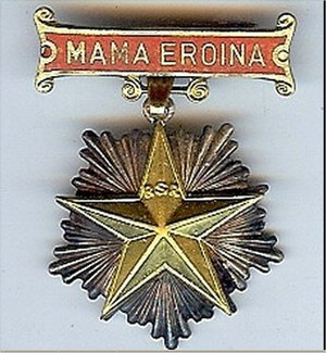 "Medal ""Heroe Mother"""