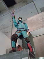 Maniquí representant un alpinista.jpg