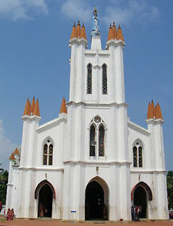 Basilica of Our Lady of Snows, Pallippuram Church in Kerala, India