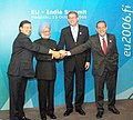 Manmohan Singh at the family photograph of India –EU summit with the President of the European Commission Mr. Barroso, the Prime Minister of Finland, Mr. Matti Vanhanen and the Secretary General of the European Union.jpg