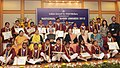 Manmohan Singh with the winners of the National Bravery Award-2012, at a function, in New Delhi. The Chairperson, National Advisory Council, Smt. Sonia Gandhi.jpg