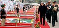 Manohar Parrikar inspecting the flag area, during his visit to the DG NCC Republic Day Camp – 2015, in New Delhi on January 21, 2015. The DG NCC, Lt. Gen. Aniruddha Chakravarty is also seen.jpg