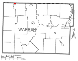 Map of Bear Lake, Warren County, Pennsylvania Highlighted.png