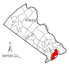 Map of Bristol Township, Bucks County, Pennsylvania Highlighted.png