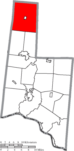 Location of Perry Township in Brown County