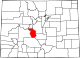 Map of Colorado highlighting Chaffee County.svg