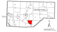 Map of East Fairfield, Crawford County, Pennsylvania Highlighted.png