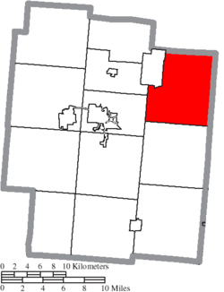 Location of Milton Township in Jackson County