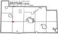 Map of Sandusky County Ohio Highlighting Helena Village.png