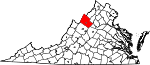 State map highlighting Rockingham County