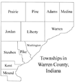 Map of Warren County showing townships.png