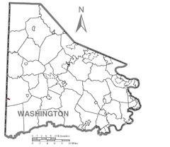 Map of West Alexander, Washington County, Pennsylvania Highlighted.png