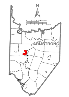 Map of West Hills, Armstrong County, Pennsylvania Highlighted.png