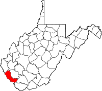 Map of West Virginia highlighting Mingo County.svg