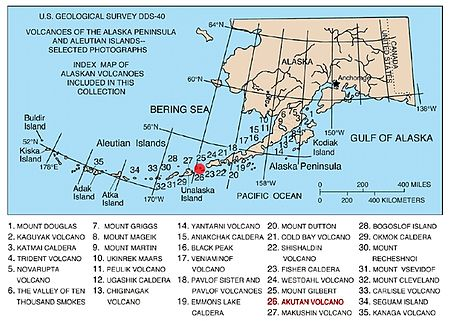 Mount Akutan Wikipedia - Map of volcanoes in the us