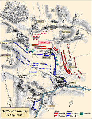 Map of the Battle of Fontenoy 1745