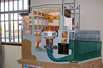 Scale model - Scale model of water powered turbine
