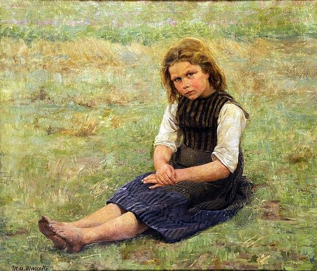 Marcotte Marie Antoinette - Une fillette dans le champs.jpg