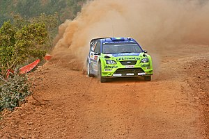 Rally de Portugal - Marcus Grönholm driving a Ford Focus RS WRC 06 at the 2007 rally.