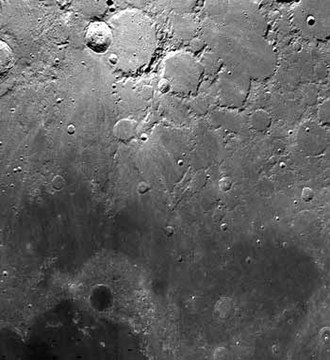 Mare Frigoris - Mare Frigoris is the dark grey material in the lower portion of this photo