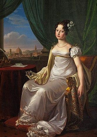 Charles Albert of Sardinia - Maria Theresa of Austria, Charles Albert's wife.