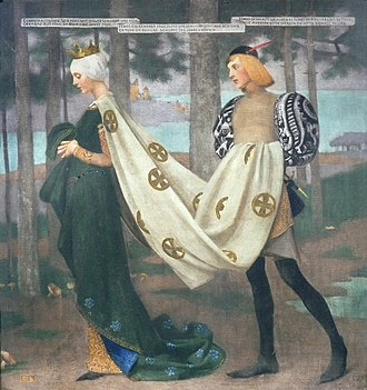 Page (servant) - The Queen and the Page, by Marianne Stokes, 1896.