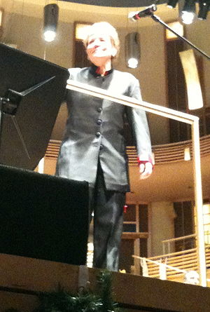 Photo of conductor Marin Aslop during Too Hot ...