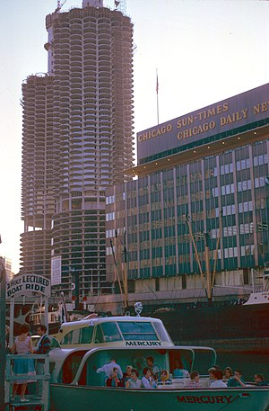 Marina City - Another view of the construction
