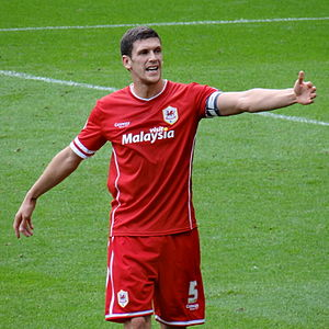Mark Hudson (footballer, born 1982) - Hudson playing for Cardiff City in 2014.