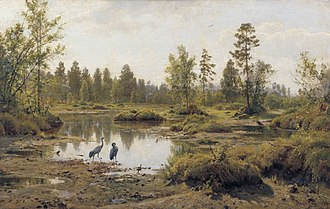 Pinsk Marshes - The marshes in a 19th-century painting.